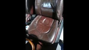 pego car seat restauración tapicería de cuero youtube