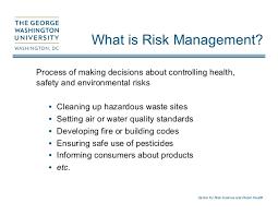 Challenge Risks The Risk Management Challenge George Gray