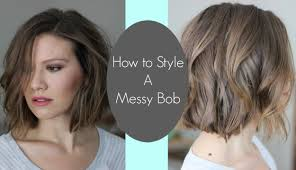 bob look hairstyle how i style my messy bob laura u0027s natural life youtube