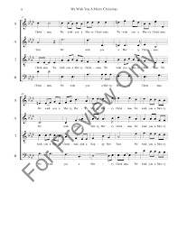 we wish you a merry satb by tra j w pepper sheet