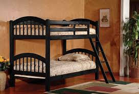 Black Bunk Beds Wood Arched Design Size Convertible Bunk Bed