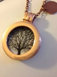 copper tree necklace tree of necklace twisted oak resin