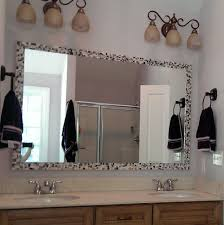 unbelievable bathroom mirror edging how to frame a bathroom mirror