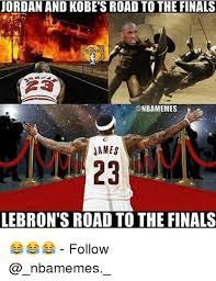 Kobe Lebron Jordan Meme - jordan and kobe s road to the finals onbamemes james lebron s road
