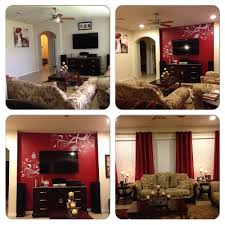 before after family room warm and passionate scheme of brown