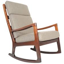 ole wanscher mahogany highback rocking chair at 1stdibs