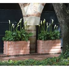 Rectangular Terracotta Planters by Crescent Garden Planters Lightweight Resin Planters Garden