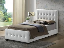 Art Van Ashley Furniture by Upholstered Bed In White Leatherette By Glory