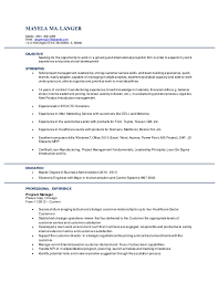 resume masters degree mayela langer resume