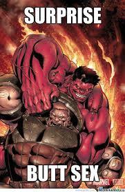 Juggernaut Meme - red hulk surprised juggernaut by zito meme center