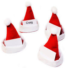 santa hat christmas table place cards ebay