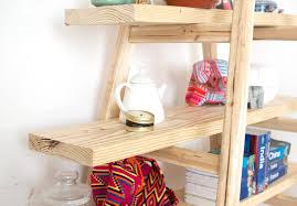 50 ladder shelves diy ana white leaning ladder wall bookshelf diy
