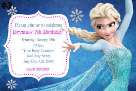 frozen birthday invitation disneyforever hd invitation card portal