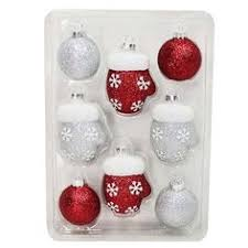 winter foiled pattern ornament assorted styles