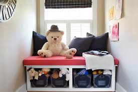 make a window seat with toy storage hgtv