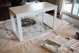ikea hack how to build a white desk with a miter saw and a kreg jig