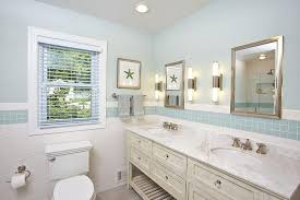 cottage bathroom with blue glass tiles cottage bathroom