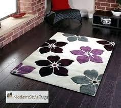 Modern Purple Rug Mesmerizing Purple Grey Rug Classof Co