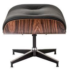 medeski modern lounge chair u0026 ottoman with black italian leather