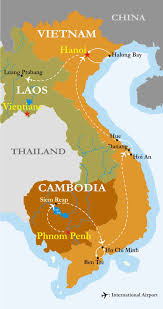 Tre Map Indochina Trails Of Indochina