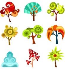 tree set royalty free vector image vectorstock