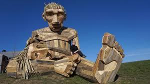 scrap wood sculpture anine sculpture inhabitat green design innovation