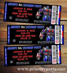 optimus prime birthday party free printable transformer birthday invitations style by