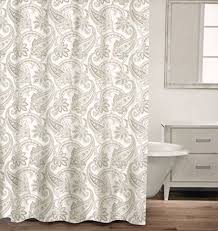 caro home 100 cotton shower curtain paisley scroll fabric shower