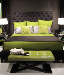 bedroom masculine black green master bedroom with black tufted