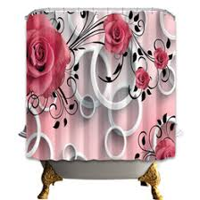 Fashion Shower Curtain Shower Curtains Roses Online Shower Curtains Roses For Sale