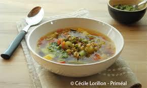 cuisiner le petit eautre recette bio priméal soupe minestrone au mescia de petit épeautre
