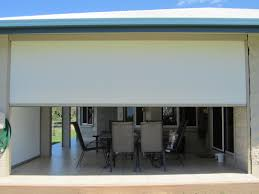 Roll Up Patio Blinds by Side Channel And Wire Guide Fabric Roll Up Blinds For Patio