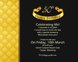 birthday invitation card 50th birthday invitation ideas