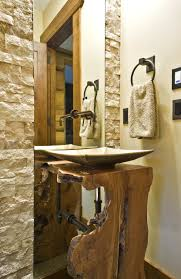 Rustic Bathroom Vanities And Sinks by Bathroom Best Rustic Bathroom Vanity With Vintage Sink Design