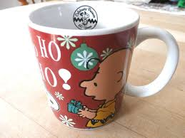 celebrating peanuts 60 years brown christmas mug celebrating peanuts 60 years ho ho