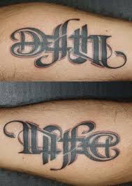 and death tattoo
