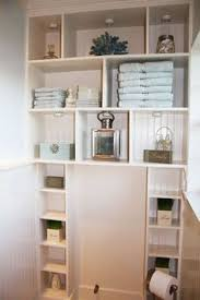 Small Bathroom Shelf Ideas Would Be Nice To Use Cabinets Like This To Frame Out The Window