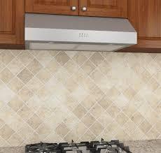 stainless steel under cabinet range hood amazon com ancona 450 cfm stainless steel 9 75 inch high under