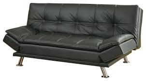 Futon Leather Sofa Bed Attractive Futon Leather Sofa Bed Metal Leg Faux Leather Sofa Bed