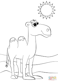 cute cartoon camel coloring page free printable coloring pages