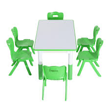 Kids Activity Desk And Chair by Qaba 7 Piece Kids Learning Activity Table And Chair Set Green