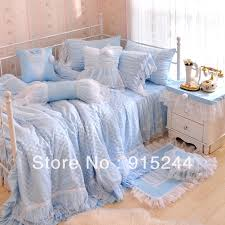 Korean Comforter 100 Cotton Princess Korean 4pcs Bedding Sets Queen King Lace Satin