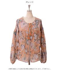 print blouses doubleheart rakuten global market goa s cotton gauze