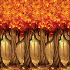 bulk fall setters supplies fall trees backdrop 6cs