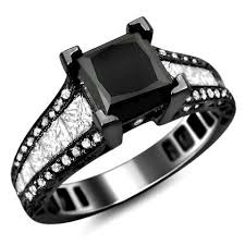 black princess cut engagement rings featured engagement rings review