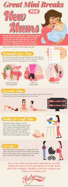 great mini breaks for new mums infographic peachymama