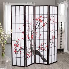 Room Divider Screens Amazon - amazon com cherry blossom 4 panel room divider kitchen u0026 dining