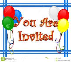 birthday invitation balloons border royalty free stock images
