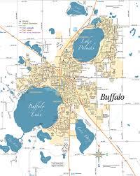 Map Mn Buffalo Minnesota Map