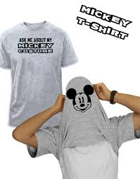 Funny Halloween T Shirt Ask About My Mickey Costume Comic Tshirt Funny Disney